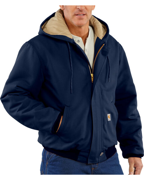 Carhartt Men's Navy Flame-Resistant Duck Active Jacket , Navy, hi-res