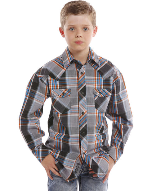 Rock & Roll Cowboy Boys' Saddle Stitch Shirt , Multi, hi-res
