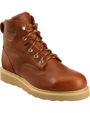 American Worker Men's Russet Lace-Up Steel Toe Work Boots, Russet, hi-res