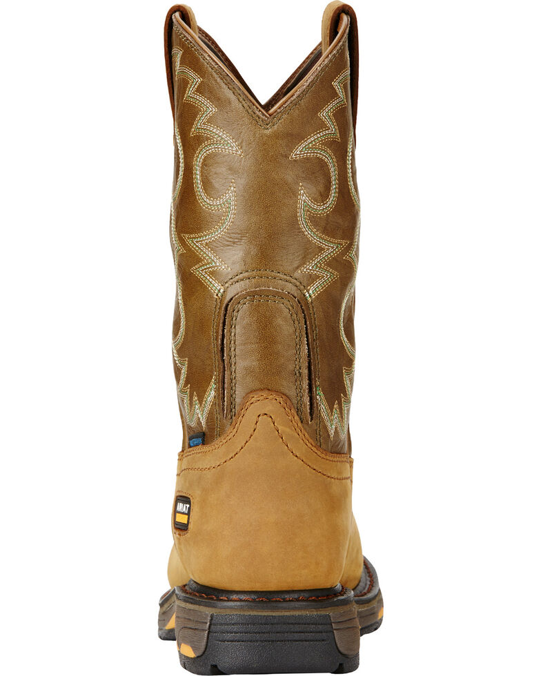 Ariat Women's Tan Workhog H2O Cowgirl Work Boots - Composite Toe  , Aged Bark, hi-res