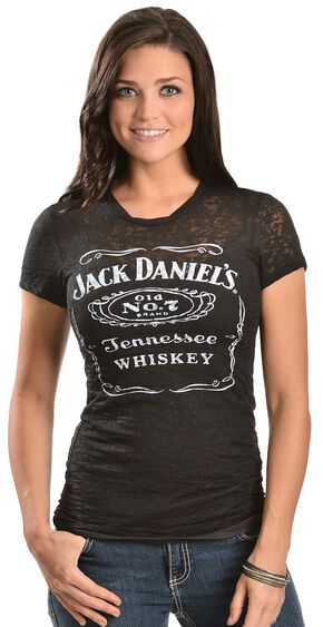 Jack Daniel's Black Burnout Short Sleeve Tee, Black, hi-res