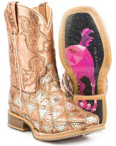 Tin Haul Youth Girls' Mu Mish & Mash Western Boots - Square Toe, Multi, hi-res