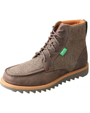 Twisted X Men's ECO TWX Wedge Sole Boots - Moc Toe, Grey, hi-res