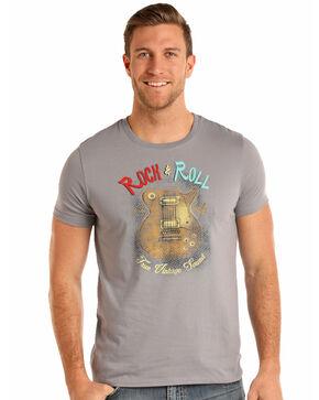 Rock & Roll Cowboy Men's Guitar Graphic T-Shirt, Grey, hi-res