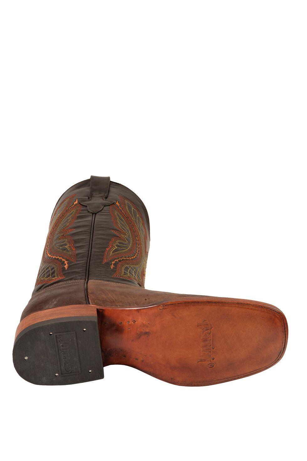 Ferrini Chocolate Distressed Kangaroo Cowboy Boots - Wide Square Toe, Chocolate, hi-res