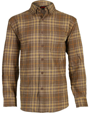 Wolverine Men's Hammond Plaid Flannel Shirt, Dark Brown, hi-res