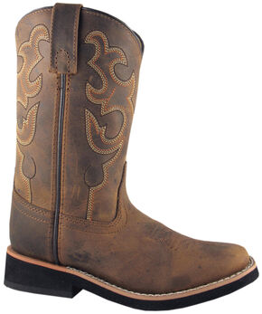 Smoky Mountain Youth Boys' Pueblo Western Boots - Square Toe, Crazyhorse, hi-res