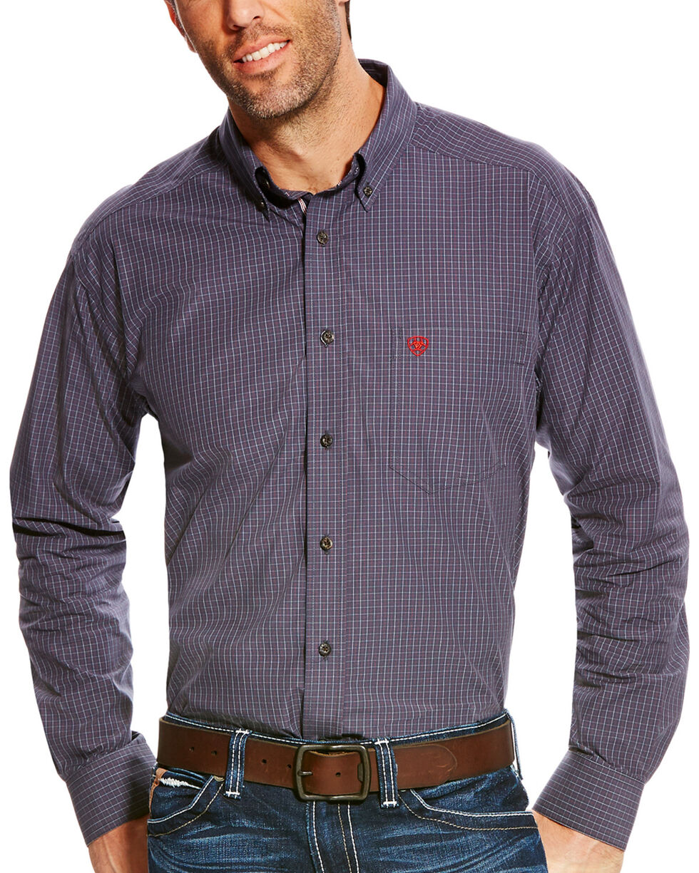 Ariat Men's Pro Series Alcino Performance Long Sleeve Button Down Shirt, Grey, hi-res