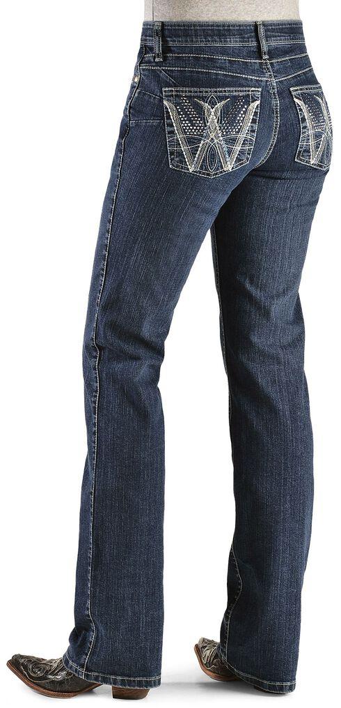 Wrangler Q-Baby Booty Up Embellished Jeans, Denim, hi-res