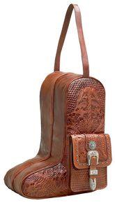 American West Zip-Around Antique Tan Leather Boot Bag, Antique Tan, hi-res