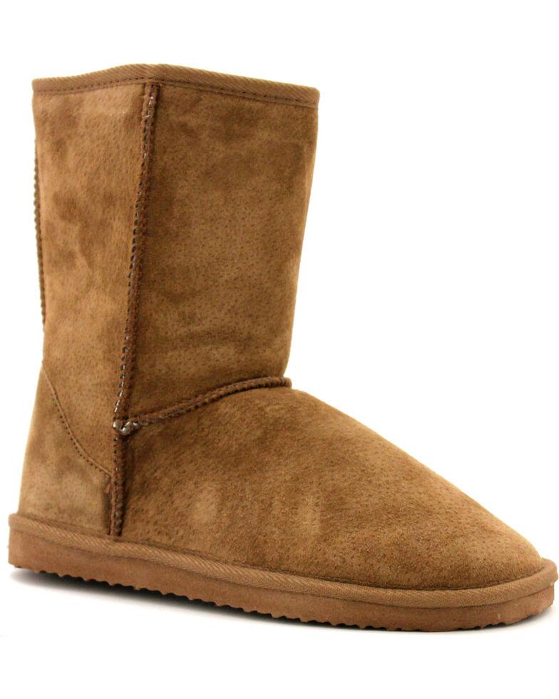 "Lamo Women's 9"" Classic Suede Boots, Chocolate, hi-res"