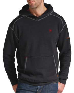Ariat Men's Flame-Resistant Tek Pullover Hoodie - Big & Tall, Black, hi-res