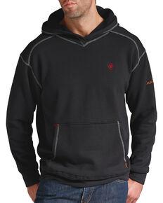Ariat Men's Flame-Resistant Tek Pullover Hoodie - Big & Tall, Black, hi-res