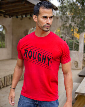HOOey Men's Bucker Roughy Short Sleeve Tee, Red, hi-res