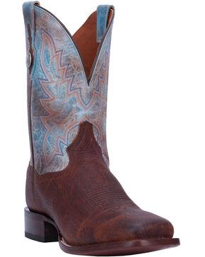 Dan Post Men's Cartwright Bison Western Boots - Wide Square Toe, Tan, hi-res