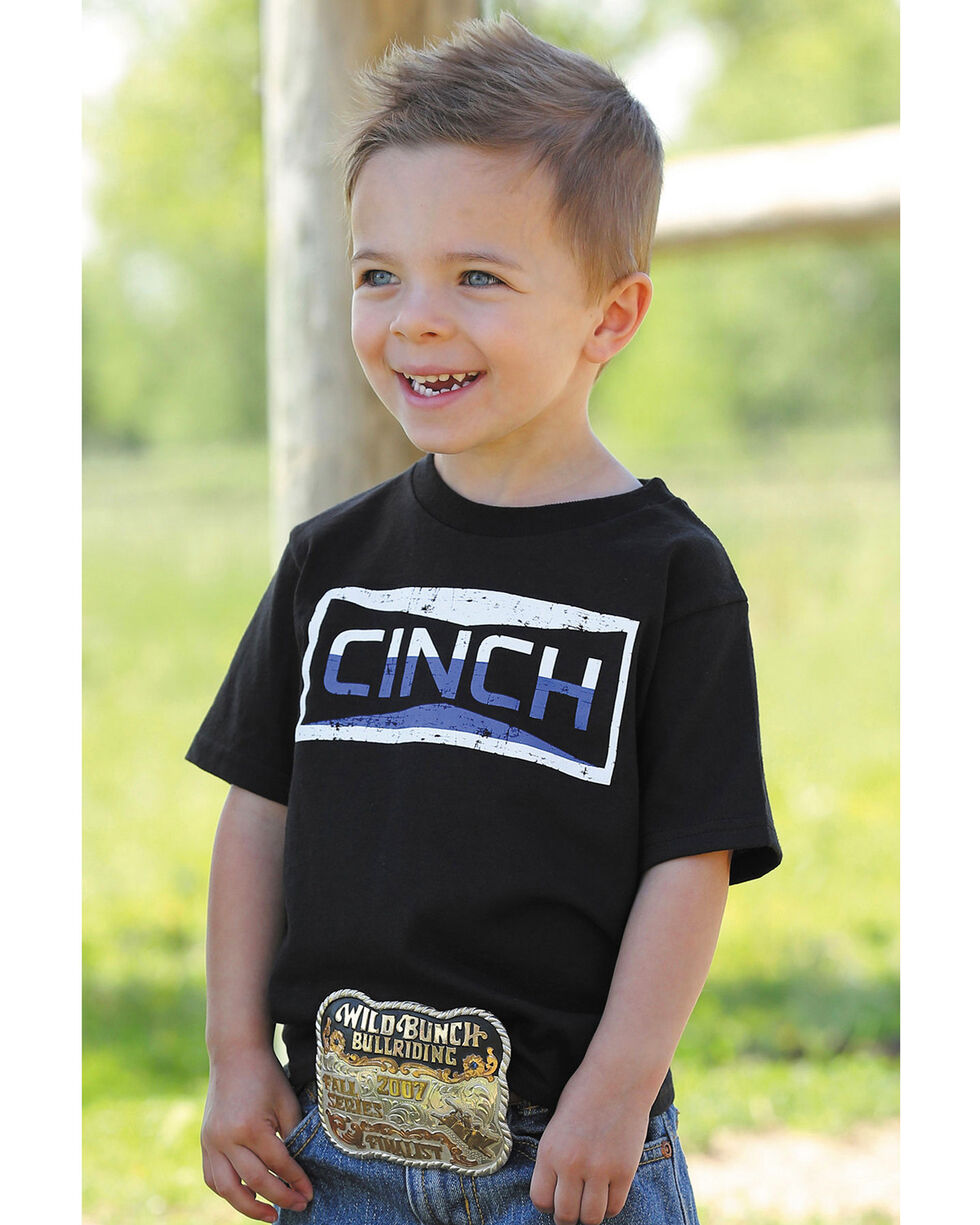 Cinch Toddler Boys' Black Two-Tone Graphic Tee , Black, hi-res