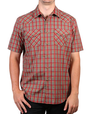 Pendleton Men's Red Short Sleeve Plaid Shirt , Red, hi-res