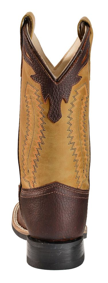 5f7c6c807a8 Old West Youth Boys' Thunder Olive Cowboy Boots - Square Toe