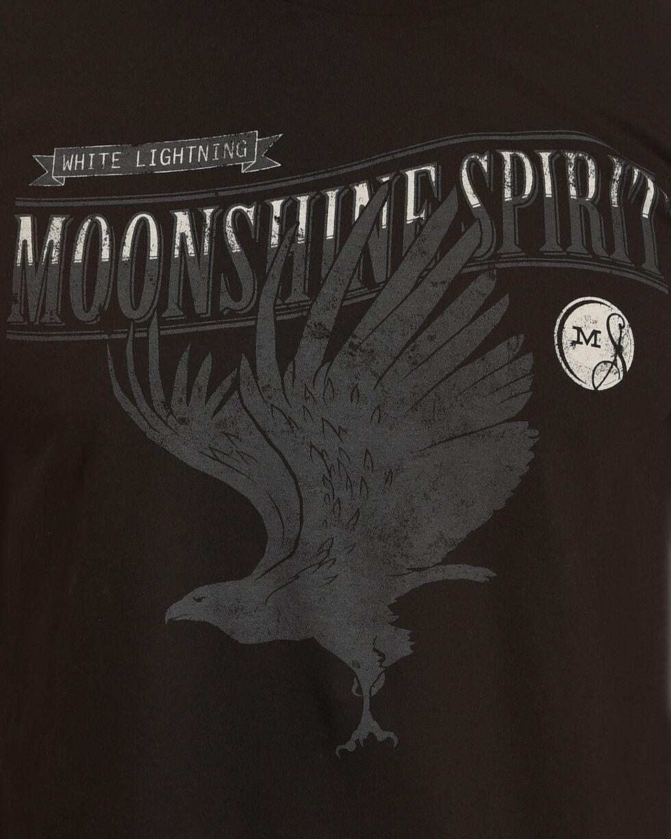 Moonshine Spirit Men's Raven White Lightning Short Sleeve T-Shirt, Black, hi-res
