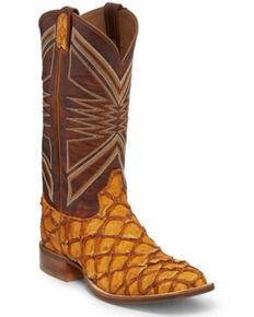 Tony Lama Men's Leviathan Cognac Western Boots - Round Toe, Cognac, hi-res
