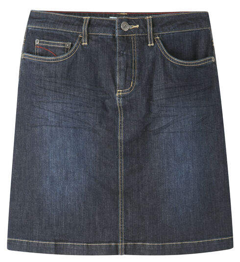 Mountain Khakis Women's Dark Wash Genevieve Denim Skirt, Indigo, hi-res