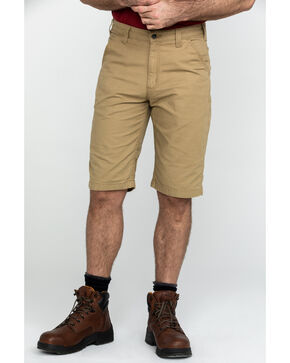 "Carharrt Men's Khaki Rugged Flex 13"" Rigby Work Shorts , Beige/khaki, hi-res"