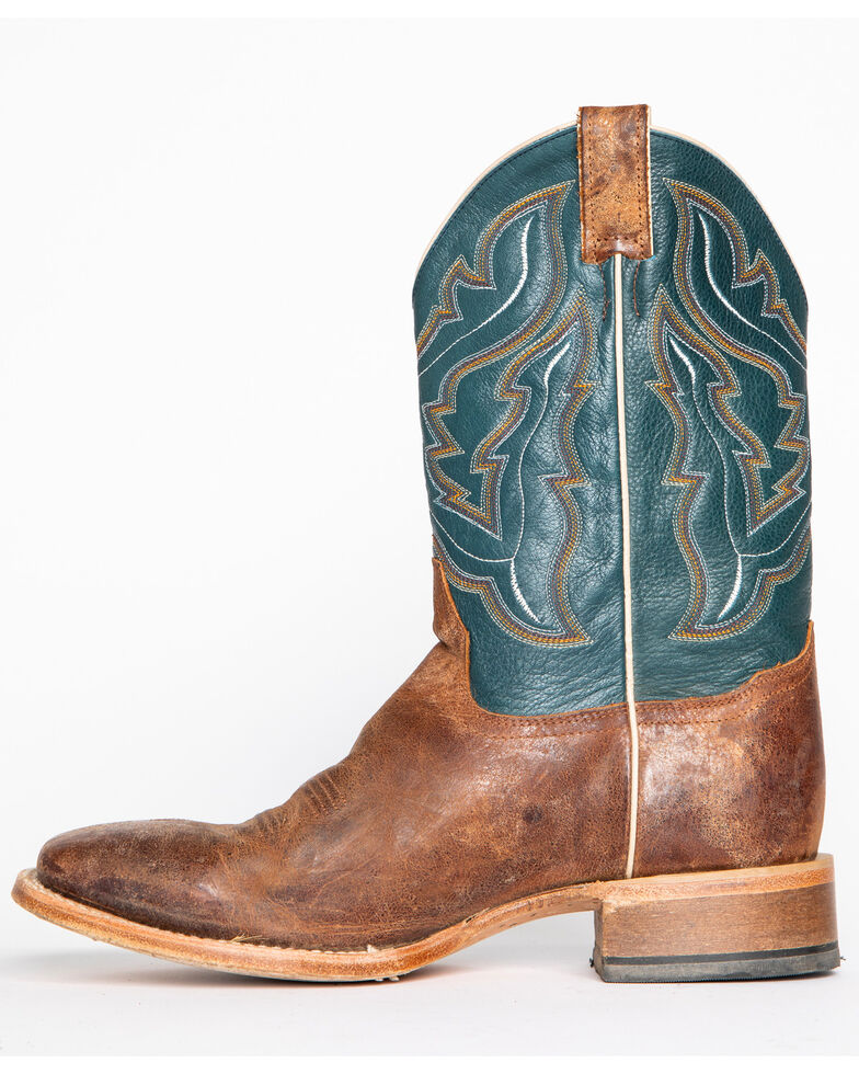 Cody James Men's Blue Cowboy Boots - Wide Square Toe, Navy, hi-res