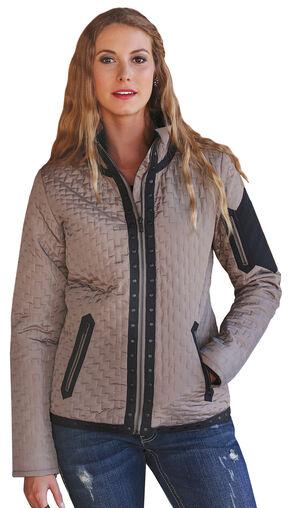 Cruel Girl Women's Quilted Western Jacket, Khaki, hi-res