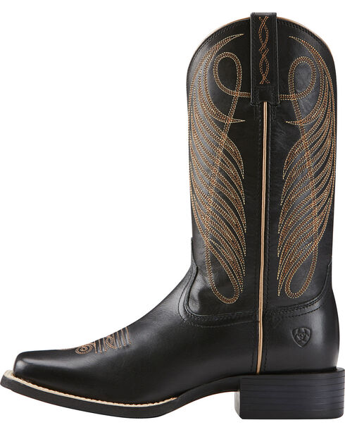 Ariat Women's Round Up Cowgirl Boots - Square Toe, Black, hi-res