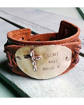 """Jewelry Junkie """"Bent Not Broken"""" Cuff Bracelet, Brown, hi-res"""