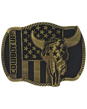 Montana Silversmiths Cowboy Up Strength in Heritage Attitude Buckle, Bronze, hi-res