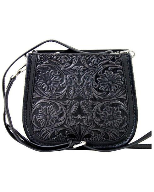 Montana West Black Delila 100% Genuine Leather , Black, hi-res