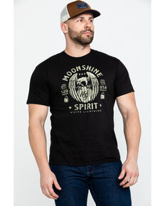 Moonshine Spirit Men's Eagle Barrel Graphic T-Shirt , Black, hi-res