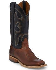Tony Lama Men's Sealy Volcano Western Boots - Square Toe, Black/brown, hi-res