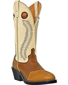 Laredo Knoxville Cowboy Boots - Round Toe, Tan, hi-res