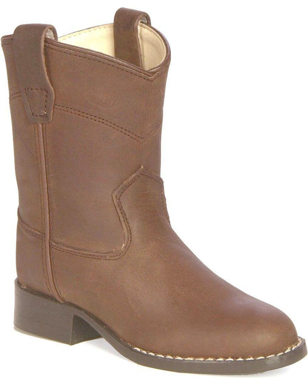 Old West Children's Roper Cowboy Boots, Distressed, hi-res