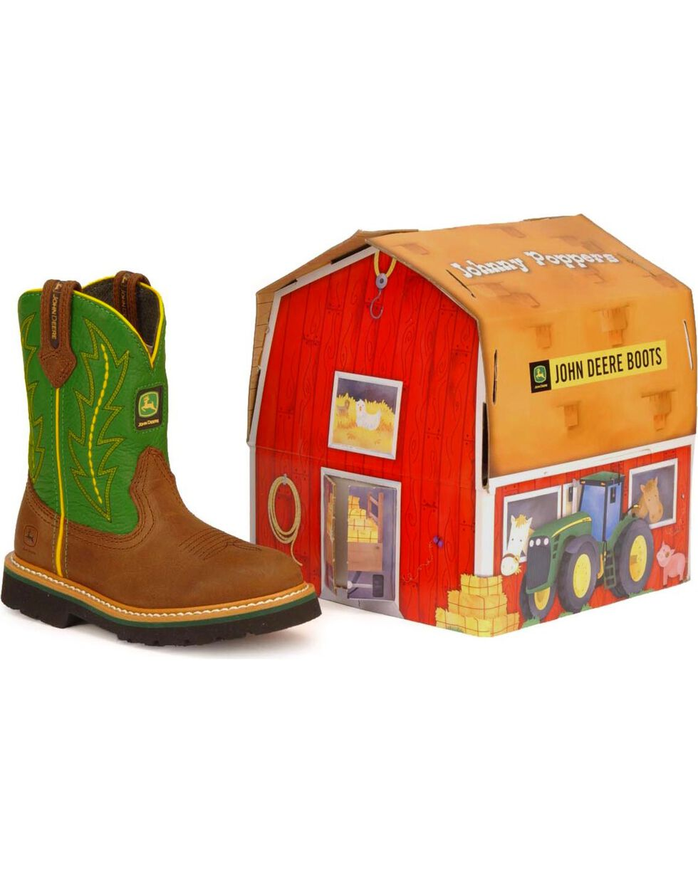 John Deere Toddler Boys' Johnny Poppers Boots, Green, hi-res