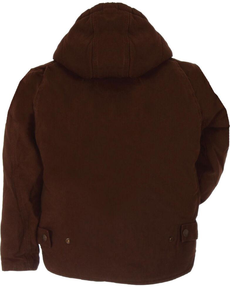 Berne Boys' Washed Sherpa-Lined Hooded Jacket, Bark, hi-res
