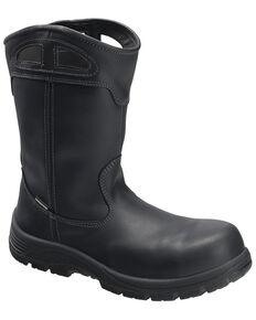 Avenger Men's Framer Waterproof Western Work Boots - Composite Toe, Black, hi-res