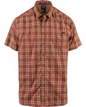5.11 Tactical Men's Hunter Plaid Short Sleeve Shirt , Red, hi-res