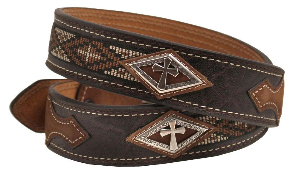 Ariat Cross Concho Belt, Brown, hi-res