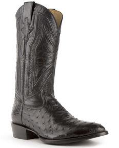 Ferrini Men's Black Colt Western Boots - Round Toe, Black, hi-res
