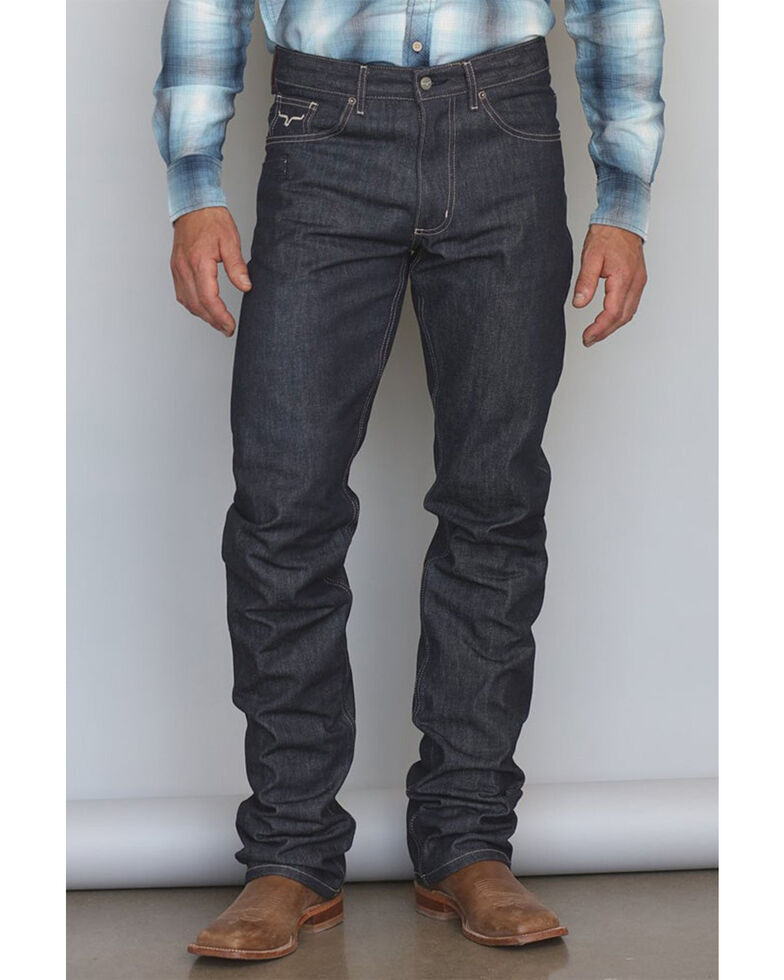 Kimes Ranch Men's Raw James Low Straight Bootcut Jeans , Blue, hi-res