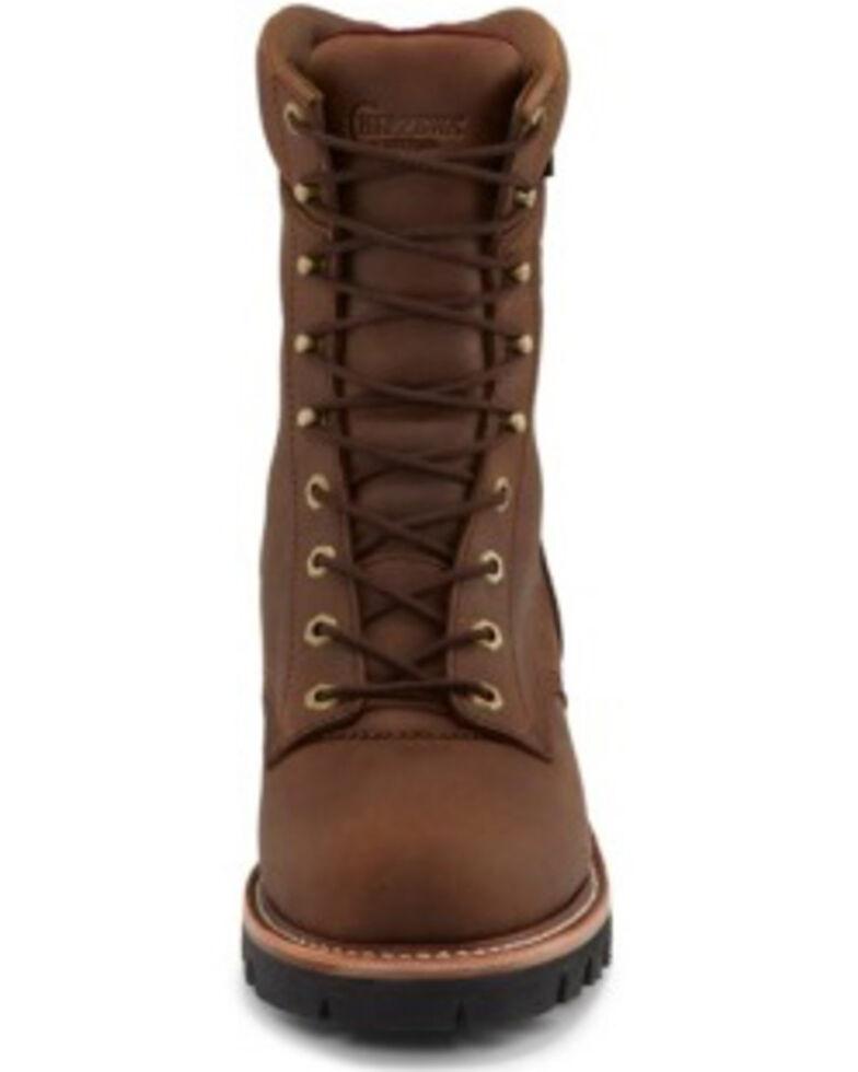 Chippewa Men's Tan Waterproof Logger Work Boots - Steel Toe, Tan, hi-res