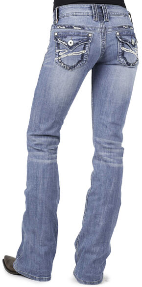 Stetson 818 Flap Back Pocket Jeans - Plus Size, Denim, hi-res