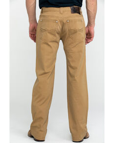 Rock & Roll Cowboy Men's Khaki W Stitch Double Barrel Straight Jeans , Beige/khaki, hi-res