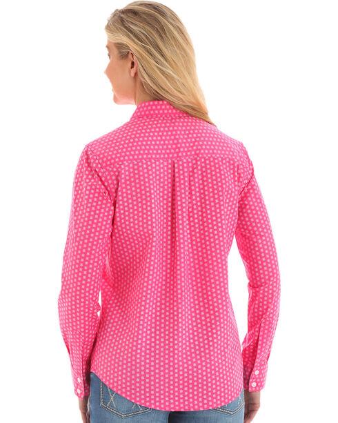 Wrangler Women's Pink George Strait Floral Print Shirt , Pink, hi-res