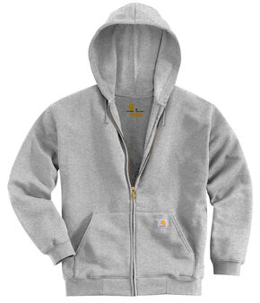Carhartt Men's Hooded Zip Hoodie - Big & Tall, Grey, hi-res