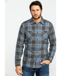 Levis' Men's Crance Plaid Long Sleeve Western Flannel Shirt , Blue, hi-res