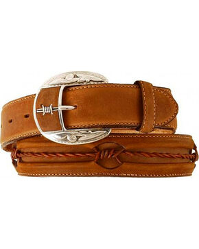Justin Barbed Wire Belt, Brown, hi-res